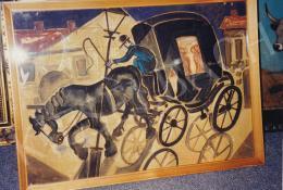 Scheiber, Hugó - Horse Cab, oil on canvas; Fotó: Kieselbach Tamás