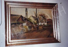 Kmetty János - Szentendre látképe, 1912, olaj,vászon,kartonon, 45x60 cm, Jelezve jobbra lent: Kmetty 1912; Fotó: Kieselbach Tamás