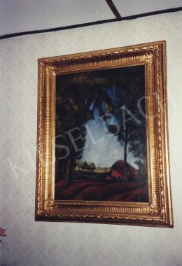 Szőnyi István - Tájkép, olaj,vászon, 100x77 cm, Jelezve jobbra lent: Szőnyi I.; Fotó: Kieselbach Tamás