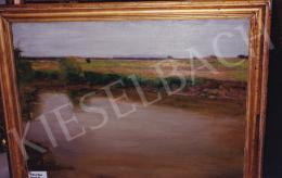 Burghardt Rezső - Tiszaparti részlet, olaj,vászon, 100x75 cm, Jelezve jobbra lent: Burghardt R.; Fotó: Kieselbach Tamás