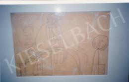 Vajda Lajos - Madonna a kapu felett, 1937, ceruza,papír, 31x44 cm, Jelzés nélkül; Fotó: Kieselbach Tamás