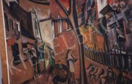 Gyenes Gitta - Római tangóharmonikás, tempera,papír, 70x97 cm, Jelezve balra lent: Gyenes Gitta 1931; Fotó: Kieselbach Tamás