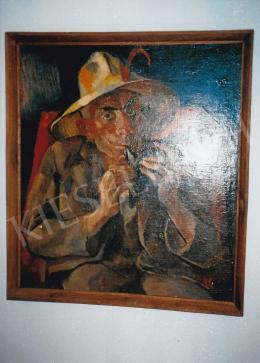 Aba-Novák, Vilmos - Okarinás, 1929, 92x82 cm, oil on canvas, Signed upper right: Aba-Novák, Photo: Tamás Kieselbach