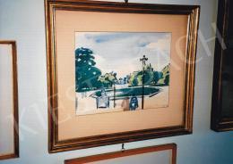 Vaszary János - Párizsi parkban, akvarell, papír, Jelezve jobbra lent: Vaszary J. Paris 929, Fotó: Kieselbach Tamás