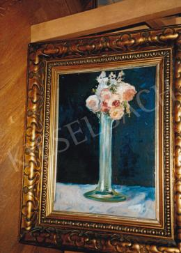Scheiber, Hugó - Flower Still Life, oil on canvas, Signed lower left: Scheiber H., Photo: Tamás Kieselbach