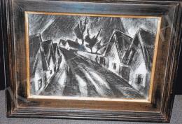 Schadl János - Utcakép, 1930; 60x70; vegyes technika, papír; Fotó: Kieselbach Tamás