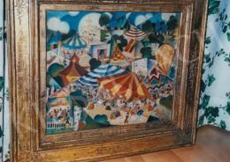 Szakmáry László - Vurstli, 1924, 42x50 cm, olaj, vászon, Jelezve jobbra lent: Szakmáry 924, Fotó: Kieselbach Tamás
