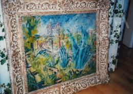 Basch Andor - Dél-francia táj, 54x65 cm, olaj, falemez, Jelzés nélkül, Fotó: Kieselbach Tamás