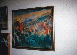 Szőnyi István - Völgyben legelésző lovak, 1920-as évek, gouache, papír vásznon, Jelezve balra lent: Szőnyi I., Fotó: Kieselbach Tamás