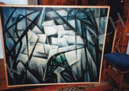 Schadl János - Lidércnyomás, 1921, olaj, vászon, 119,5x132 cm, Jelezve jobbra lent: S.J., Fotó: Kieselbach Tamás