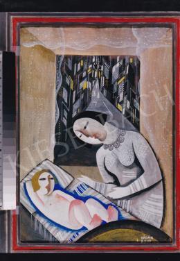 Kádár Béla - Városi Madonna (Anya gyermekével), 1927, tempera, papír, 50x35 cm, Jelezve jobbra lent: Kádár Béla; Fotó: Kieselbach Tamás