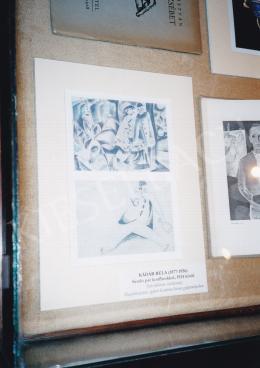Kádár Béla - Sétáló pár konflisokkal, 1924 körül, (hátoldalon vázlatrajz), Magántulajdon, egykor Genthon István gyűjteményében, Fotó: Kieselbach Tamás