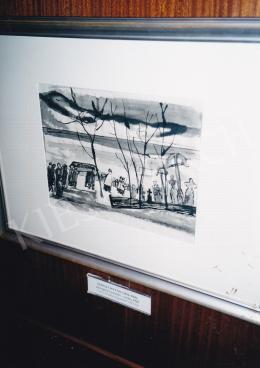 Szőnyi István - Zebegényi temetés - vázlat, 1928, tus, papír, Vétel a Genthon-hagyatékból, 1982, Fotó: Kieselbach Tamás