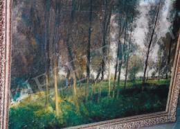 Burghardt Rezső - Nyári fények az erdőben; olaj, vászon; Fotó: Kieselbach Tamás
