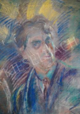 Márffy Ödön - Dinamikus önarckép, 1920-as évek közepe, 90x73 cm, pasztell, vászon, Jelezve jobbra fent: Márffy Ödön, Fotó: Kieselbach Tamás