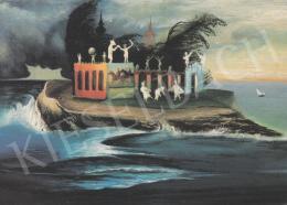 Csontváry Kosztka Tivadar - Titokzatos sziget, 1900 körül, olaj, vászon, 35x50