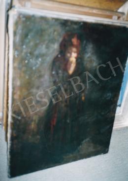 Fényes, Adolf - Apple Eating Girl, 66,5x51 cm, oil on canvas, Unsigned, Photo: Tamás Kieselbach