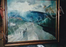 Barzó Endre - Kék domb felé, 1930-as évek első fele, 60,5x73,5 cm, olaj, vászon, Jelezve jobbra lent: Barzó E BP, Fotó: Kieselbach Tamás