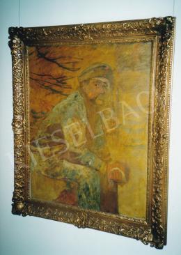 Mednyánszky László - Sebesült katona, 1916, olaj, vászon, 100x80 cm, Jelezve jobbra lent: Mednyánszky, Fotó: Kieselbach Tamás