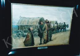 Mednyánszky László - Légitámadás, olaj, vászon, 34x50 cm, Jelezve jobbra lent: Mednyánszky, Fotó: Kieselbach Tamás