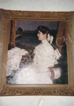 Ferenczy Károly - Léderer Rudolf leánya, 1909, 104x95 cm, olaj, vászon, Jelzés nélkül, Fotó: Kieselbach Tamás