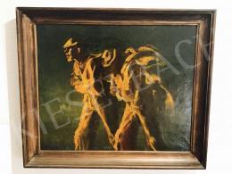 Mednyánszky László - Csavargók az éjszakában, 1911-1913; olaj, vászon; Jelzés nélkül; Fotó: Kieselbach Tamás