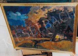 Nagy Oszkár - Naplemente Nagybányán, 1930-as évek; 100x120; olaj, vászon; Jelezve jobbra lent: Nagy Oszkár; Fotó: Kieselbach Tamás