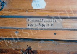 Vaszary, János - The backside of the artist's painting, his wife's autograph writing and other exhibition labels Photo: Tamás Kieselbach