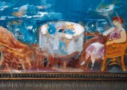 Márffy Ödön - Kilátás a Como-i tóra (Kilátás az erkélyről) (75x65 cm Olaj, vászon) Jelezve balra lent: Márffy Fotó: Kieselbach Tamás