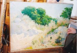 Vaszary János - Napsütötte erdőszéle, 1890-es évek (63.5x77.5 cm Olaj, vászon) Jelezve balra lent: Vaszary J. Fotó: Kieselbach Tamás