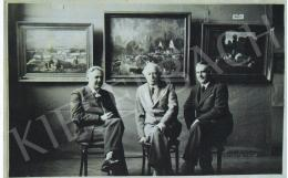 Iványi Grünwald, Béla - Among the Paintings of Bela Iványi Grünwald in her Studio