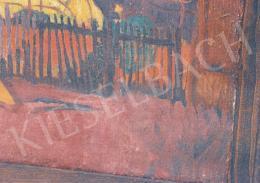 Bornemisza Géza - Szénaboglyák Nagybányán kép részletfotói; olaj, vászon; Fotó: Kieselbach Tamás