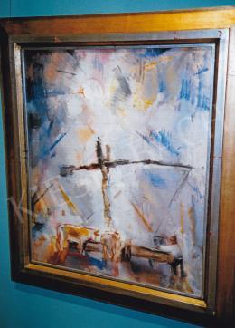 Aba-Novák, Vilmos - Shadoof; 1927; oil on canvas; 60x50 cm; Signed upper left: ABA NOVÁK Photo: Tamás Kieselbach