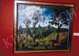 Aba-Novák, Vilmos - Carrying Wood; oil on canvas; 90x110 cm; Signed; Photo: Tamás Kieselbach
