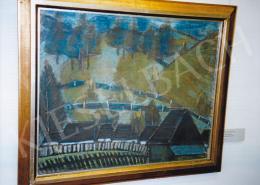Nagy István - Csíki táj, házakkal; 1928 k.; 68x85 cm; pasztell, papír; j.j.l.: Nagy István; Fotó: Kieselbach Tamás