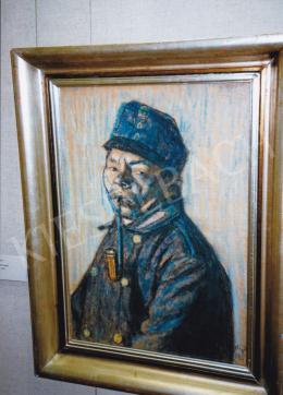 Nagy István - Pipázó katona (Népfelkelő), 1915; 66x44 cm; pasztell, papír; J.j.l.: Nagy István 1915; Fotó: Kieselbach Tamás