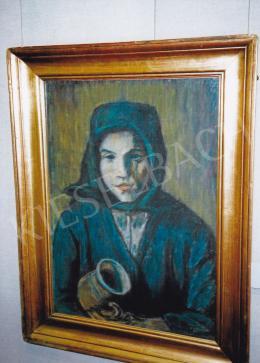 Nagy István - Kendős parasztlány korsóval, 1930 k.; 70x50 cm; pasztell, papír; J.j.l.: Nagy István; Fotó: Kieselbach Tamás