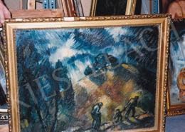 Schadl János - Menekülők, 1928; olaj, karton, 61x78 cm, Jelezve balra lent: S.J. 928, Fotó: Kieselbach Tamás