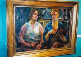 Aba-Novák, Vilmos - The Artist and His Wife (Double Portrait); Oil on canvas; Signed lower left: Aba-Novák 25; Photo: Tamás Kieselbach