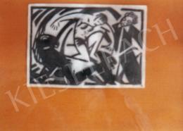 Bortnyik Sándor - Bortnyik Sándor eredeti leírása, hogyan lehet rajzból fametszetet készíteni; Fotó: Kieselbach Tamás