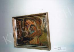 Ámos Imre - Szögbeverő önarckép; olaj, vászon; Jelezve jobbra lent: Ámos I.; Fotó: Kieselbach Tamás