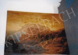 Ligeti Antal - Romantikus Nápolyi látkép; olaj, vászon; Fotó: Kieselbach Tamás