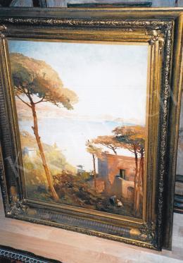 Háry Gyula - Itáliai tengerpart; 80x60; olaj, vászon; Jelezve jobbra lent: Pazzuoli Háry Gy.; Fotó: Kieselbach Tamás