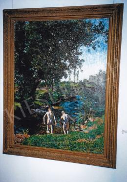 Ferenczy Károly - Fürdő fiúk, 1902; olaj, vászon; 160x120; Jelezve jobbra lent: Ferenczy Károly; Fotó: Kieselbach Tamás
