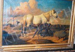 Lotz Károly - Lovas kompozíció; olaj, vászon; Fotó: Kieselbach Tamás
