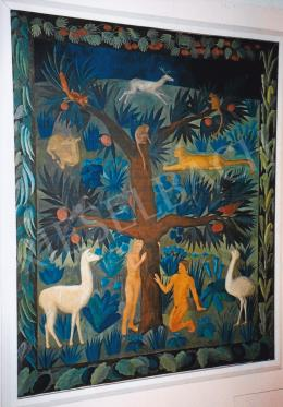 Ferenczy, Noémi - Adam-Eve; tempera on cardboard; 188x153 cm; Photo: Tamás Kieselbach