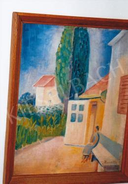 Kmetty János - Épület udvar; olaj, vászon; Jelezve jobbra lent: Kmetty; Fotó: Kieselbach Tamás