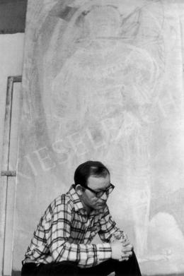 Kondor, Béla - Béla Kondor in his Studio