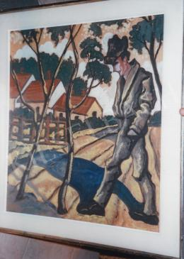 Scheiber, Hugó - Vagabond; 76x70; tempera on paper; Signed lower left: Scheiber H; Photo: Tamás Kieselbach