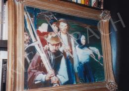 Vaszary János - Hazatérők; 60x80; olaj, vászon; Jelezve jobbra lent: Vaszary J; Fotó: Kieselbach Tamás